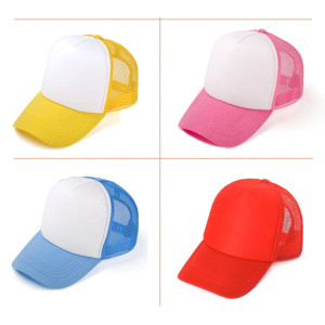 colorf mesh foam baseball cap,blank trucker cap and hat wholesale