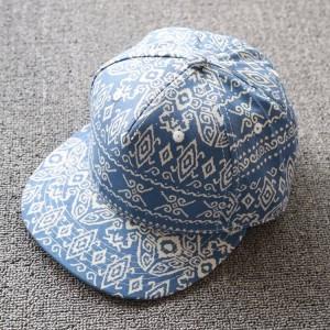 fashion print floral flat brim hat,sublimation pattern snapback hat hiphop cap