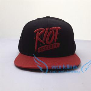 Fashion custom flat brim snapback hat two tone