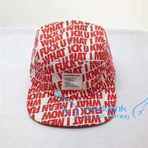 custom all over printing five panel hat with woven patch,sublimation /digital print