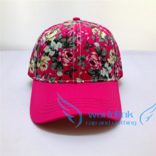 design your own rosy floral baseball cap for sell