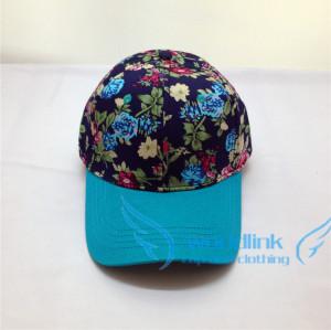 blue custom hawaii floral printing snapback /baseball  cap hat