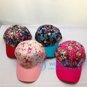 custom hawaii floral printing baseball cap hat,wholesale curve brim snapback