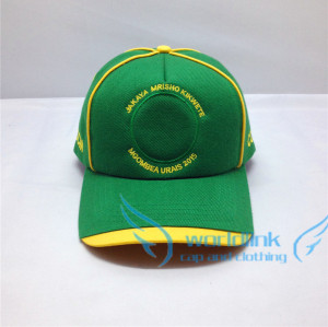 5 panel emroidery baseball caps and hats/fashion golf cap/green yellow club cap alibaba make in china