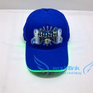 custom LED Cap ,baseball cap with LED light,China suppliers lamp cap