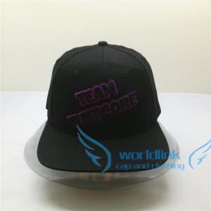 custom elastic fitted flexfit snapback cap,wholesale elastic flat brim hat