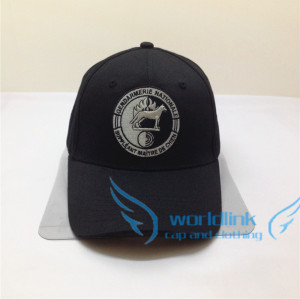 custom VELCRO baseball cap-black wolf  wholesale fashion rhinestone baseball hat and cap