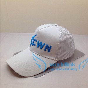 custom Cheap promotional wholesale  5 panel trucker cap,cotton embroidery mesh baseball cap