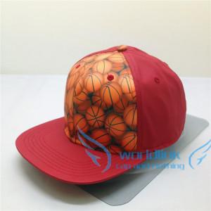 custom elastic pu leather ball fabric snapback cap,wholesale all kinds of fabric hip hop cap
