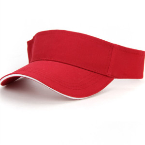 custom 100% cotton sun visor cap,wholesale blank colorful golf cap