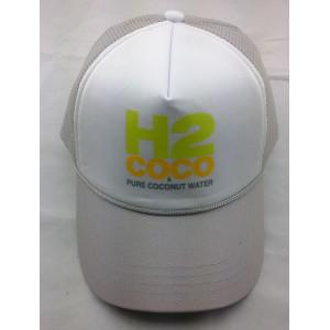 custom screen printed logo trucker cap,curve visor mesh baseball cap with rope brim