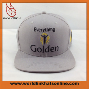 custom 100% cotton  snapback cap ,wholesale high quality embroidery snapback hats