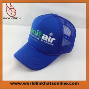 customize screen printed trucker cap,foam mesh baseball cap