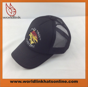 customize plain trucker cap,mesh curved cap