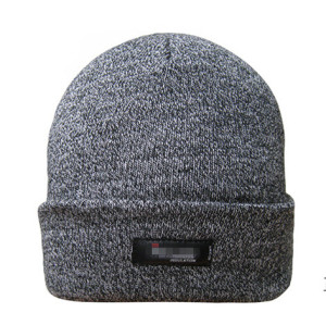 custom wool beanie hat with woven label  wholesale