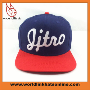 custom chainstitch style embroidery snapback hat