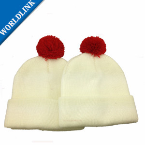 Pompom Winter kid Hat Knitted Knitting Hat Beanie