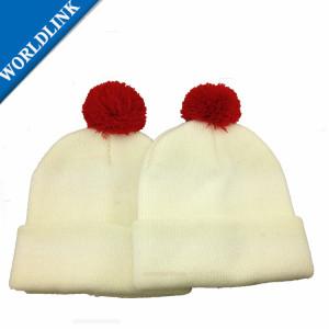 Pompom Winter kid Hat Knitted Knitting Hat Beanie