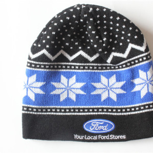 custom high quality embroidery Knitted Hat Beanie Cap with printed pattern/ Warm Knitting Hats /beanie Cap