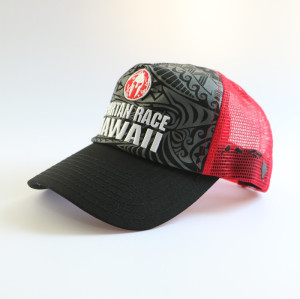 custom trucker hat with sreen printing embroidery