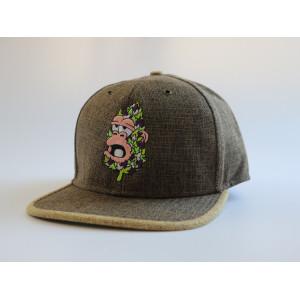 wholesale custom linen hiphop snapback hat with embossed metal buckle