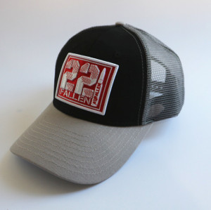 custom trucker hat with high quality raise embroidery