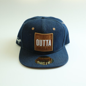 design your heavy washed denim snapbacks hat with hang tag