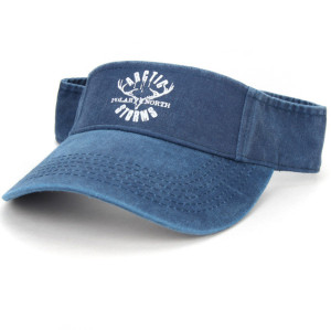 high quality vintage washed cotton sun visor golf cap with sreen logo