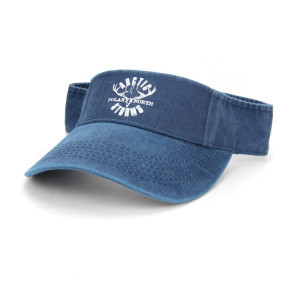 high quality vintage washed cotton sun visor golf cap with sreen logo