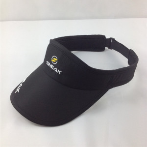 nylon Dry fit sun visor hat for running