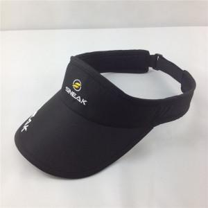 nylon Dry fit sun visor hat for running