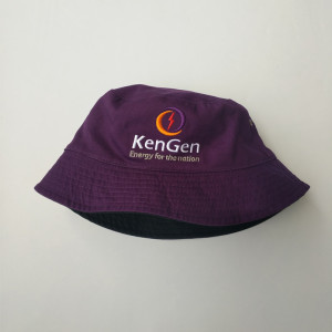 customized 100% cotton double side bucket hat with embroidered logo