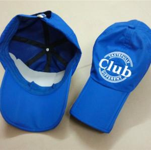 drying sport baseball cap with folding peak/bill/brim