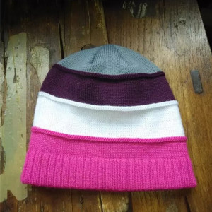 short knitted beanie hat without cuff