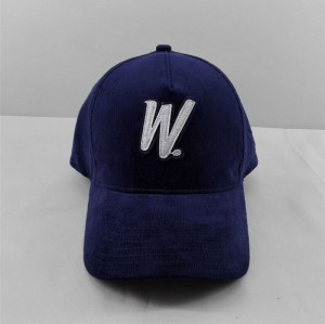 custom corduroy baseball cap with patch