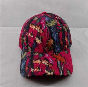 new fashion spring leaf printing baseball cap