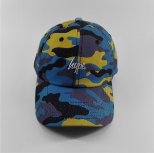 cutom cotton design Camouflage digital printing baseball cap