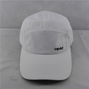 quick-drying sport 5 panel hat with cruved brim/peak