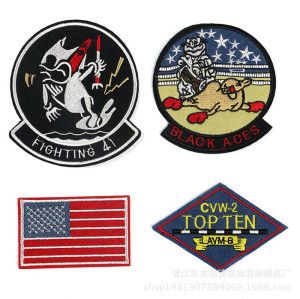 custom high quality  embroidery patches accessory