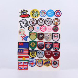 custom high quality  woven/cloth patches accessory