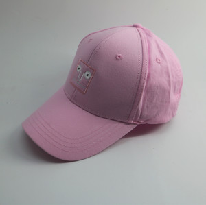 custom high quality cotton face embroidery fabric patch baseball cap