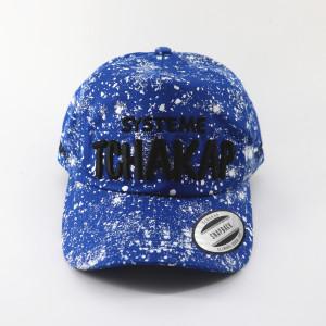 2017new style fashion printed spot splash-ink baseball cap and hat