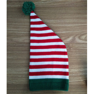 custom red white green stripe christmas knit hat shop Promotional cap