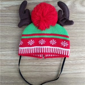custom  christmas knit pet hat dog or cap winter hat