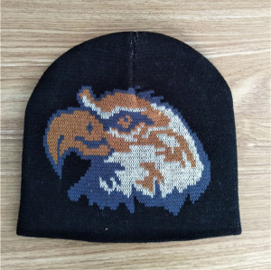 fashion knit pattern eagle beanie hat and cap