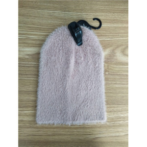 custom soft and  comfortable plush fabric beanie hat for women