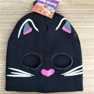 custom fashion special cute cat knit hat