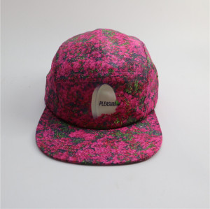 custom sublimate flora pattern 5 panel hats
