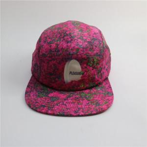 custom sublimate flora pattern 5 panel hats
