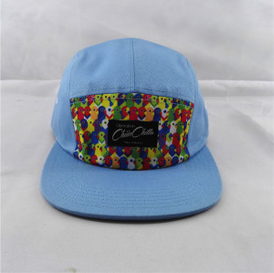 cotton and polyester fabric hip hop caps with woven patches
